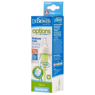 Dr Brown's Options Plus Anti-Colic Bottle Collo Stretto 120ml
