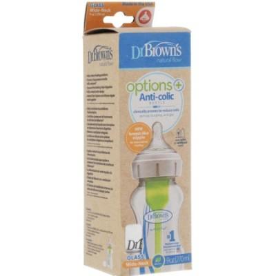 Dr Brown's Options Plus Anti-Colic Bottle Collo Largo Glass 270ml