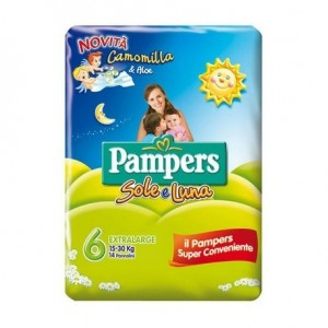 SOLE E LUNA 6EXTRALARGE PAMPERS 15/30kg 14 PANNOLINI