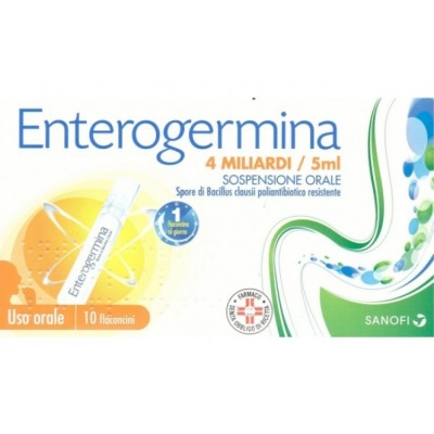 Enterogermina Os 10 Flaconi 4mld/5ml