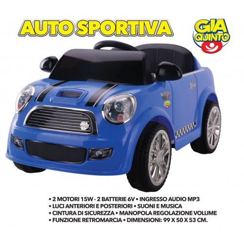 Auto Elettrica Sportiva Blu GVC-5259