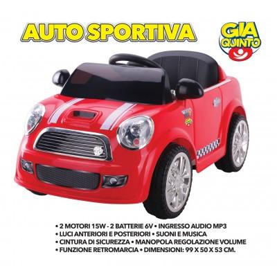 Auto Elettrica Sportiva Rossa GVC-5260