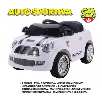 Auto Elettrica Sportiva Bianca GVC-5262