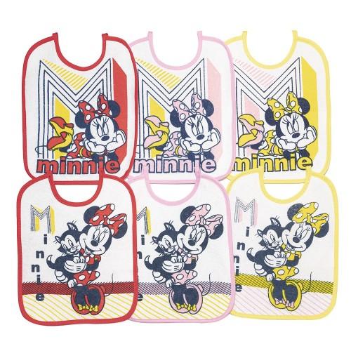 Bavaglini impermeabili Minnie kit 12 pezzi