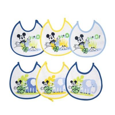 Bavaglini impermeabili Mickey mouse / Topolino kit 6 pezzi
