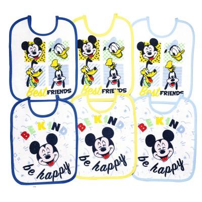 Bavaglini impermeabili Mickey mouse / Topolino kit 6 pezzi taglia grande
