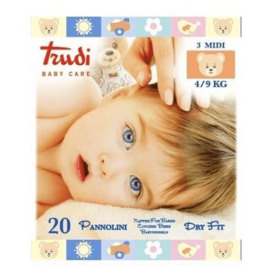 BABY CARE PANNOLINI TRUDI 4 MAXI 7/18 KG 18 pannolini