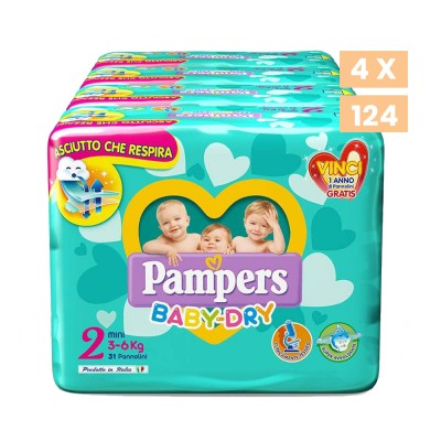 Baby Dry 2 Mini Pampers 24 pannolini 3-6 kg